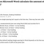Berechnung x-facher Zeilenabstände in Microsoft Word